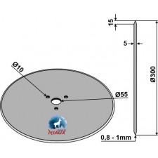 Coutre circulaire Ø300x5