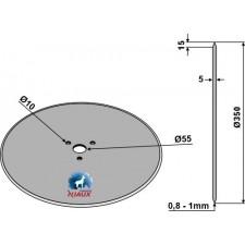 Coutre circulaire Ø350x5