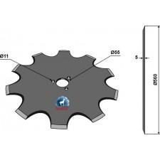 Coutre circulaire Ø560x5 - AG006054