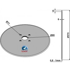 Coutre circulaire Ø570x6