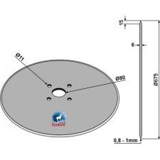 Coutre circulaire Ø675x6