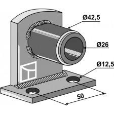 Palier de bride 90° avec entretoise emboîté - Ø26