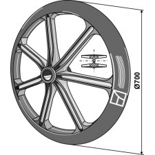 Roue packer - Ø700mm - AG007507