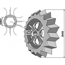 Roue dentée - Ø450mm - Rabe - 6809.01.02