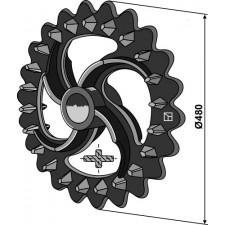 Roue crosskill - Ø480mm - Dal-Bo - 18101