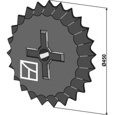 Roue dentée - Ø450mm - Güttler - 75406002