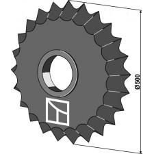 Roue dentée - Ø500mm - Güttler - 75407000