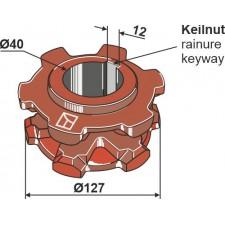 Pignon à chaîne Ø127 - Mengele - 03-087358