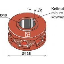 Pignon à chaîne Ø135 - AG007781