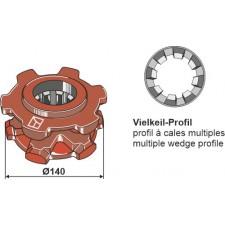 Pignon à chaîne Ø140 - Fortschritt - 1410 28416 8
