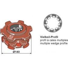 Pignon à chaîne Ø140 - Fortschritt - 1410 28061 3