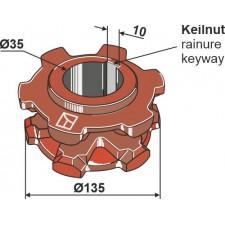 Pignon à chaîne Ø135 - AG007752
