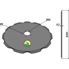 Coutre pour charrue Ø490x4,3 - John Deere - CJ15624