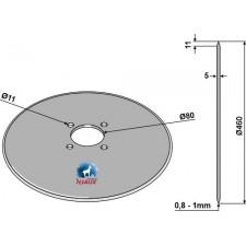 Coutre pour charrue Ø460x5 - Massey Ferguson - MF3940221