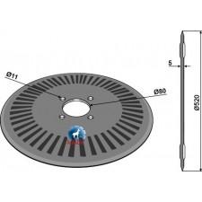 Disque pour charrue Ø520x5 - Agrolux - 80663