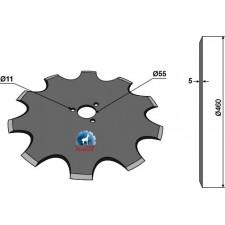 Coutre circulaire Ø460x5 - Kverneland - KK056115