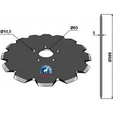 Coutre pour charrue Ø500x5 - Kuhn - 110027