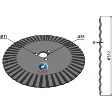 Coutre circulaire Ø510x5 - Kverneland - KK056114