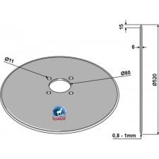 Coutre pour charrue Ø520x6 - Massey Ferguson - MF3940268