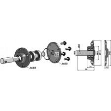 Roulement rainuré à billes pour Coutres circulaires complet avec arbre Ø25mm - Rabe - 90085601