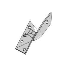 Bride de fixation pour pointe réversible droite - Överum - 84288 - 41658428809