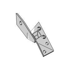 Bride de fixation pour pointe réversible gauche - Överum - 84289 - 41658428909