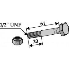 Boulon avec écrou à freinage interne 1/2''UNF