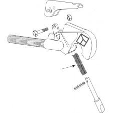 Piton de sécurité pour crochets automatiques, ancien modèle
