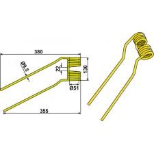 Dent de fenaison - modèle gauche - Niemeyer - 600.061