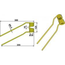 Dent de fenaison - modèle gauche - Niemeyer - 600.039 - 6000033