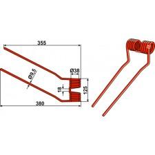 Dent de fenaison - modèle droit - Niemeyer - 600.038 - 6000032