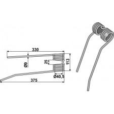 Dent de fenaison - modèle gauche - PZ-Zweegers - PZ 107