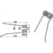 Dent de fenaison - modèle gauche - PZ-Zweegers - PZ 110