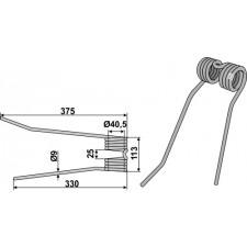 Dent de fenaison - modèle droit - PZ-Zweegers - PZ 111