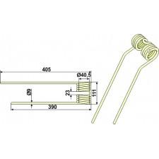 Dent de fenaison - modèle gauche - PZ-Zweegers - PZ 339