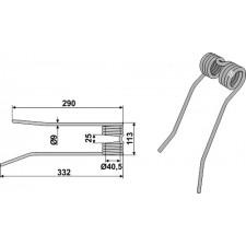 Dent de fenaison - modèle gauche - PZ-Zweegers - PZ 192