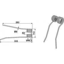 Dent de fenaison - modèle gauche - PZ-Zweegers - PZ 193