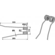 Dent de fenaison - modèle droit - PZ-Zweegers - PZ 191