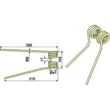 Dent de fenaison - modèle droit - PZ-Zweegers - PZ 221