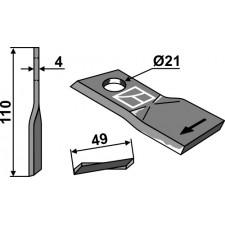 Couteau pour faucheuse - Pöttinger - 434970
