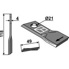 Couteau pour faucheuse - Pöttinger - 434976
