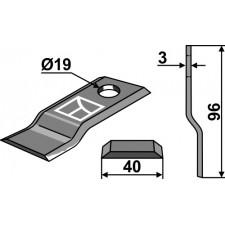 Couteau pour faucheuse - Pöttinger - 434993