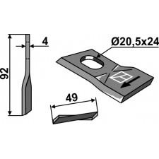 Couteau pour faucheuse - JF - 13800022