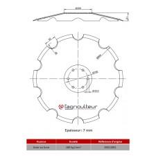 Disques de Déchaumeurs Horsch 684X7 - 00311081