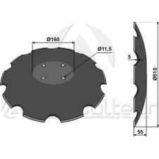 Disque crénelée à fond plat - D510 - Amazone - 78201966