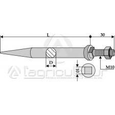 Dents de herse à semaille en acier au bore - traité - AG002995