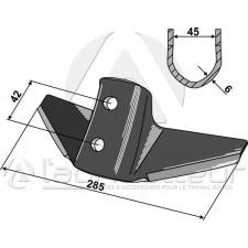 Soc à ailette pour système Kongskilde - Kongskilde - 105000649