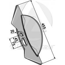 Soc double-coeur externe  45-75 - POttinger - 888.01.021.0