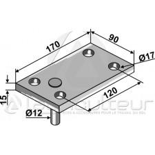 Contre plaque avec piton - Kverneland - KW5171
