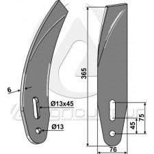 Déflecteur lateral - droit - AG003109
